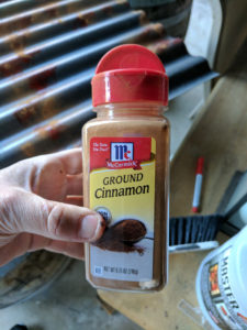 Take some regular, ground cinnamon.